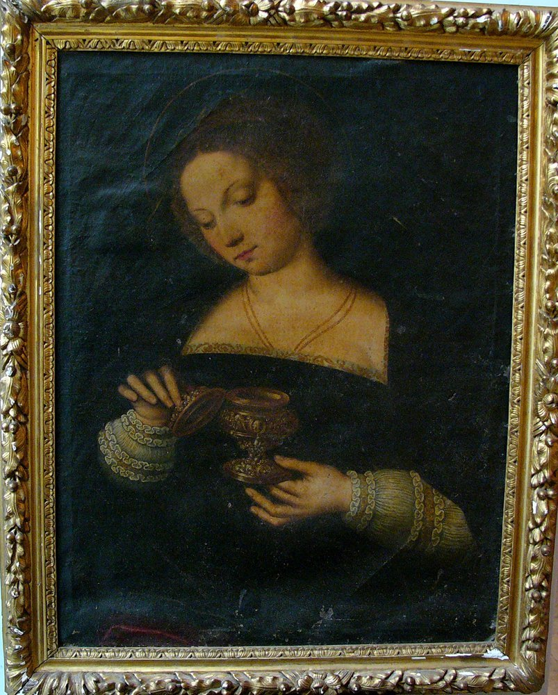 Michiel Coxie (1499-1592)-follower, Female Saint