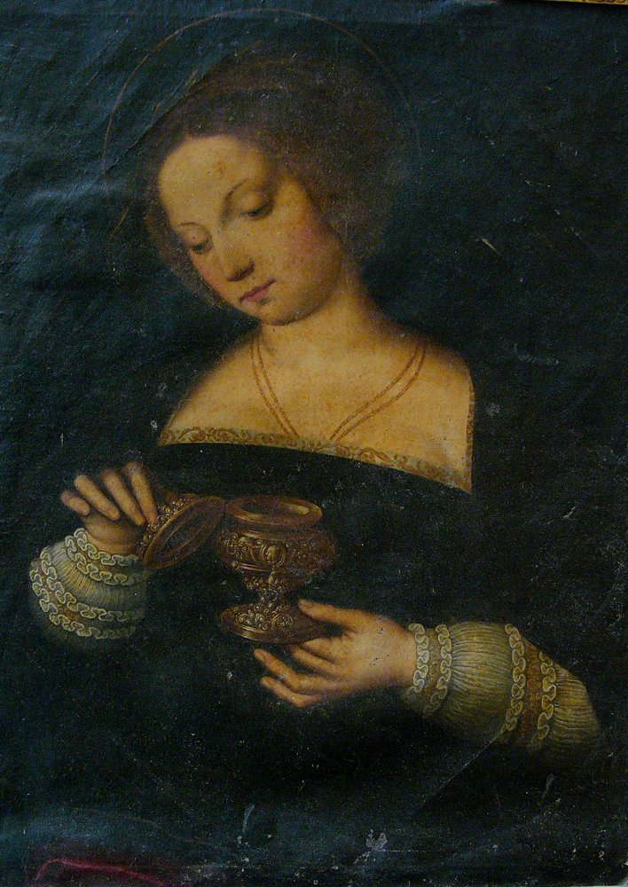 Michiel Coxie (1499-1592)-follower, Female Saint - 2