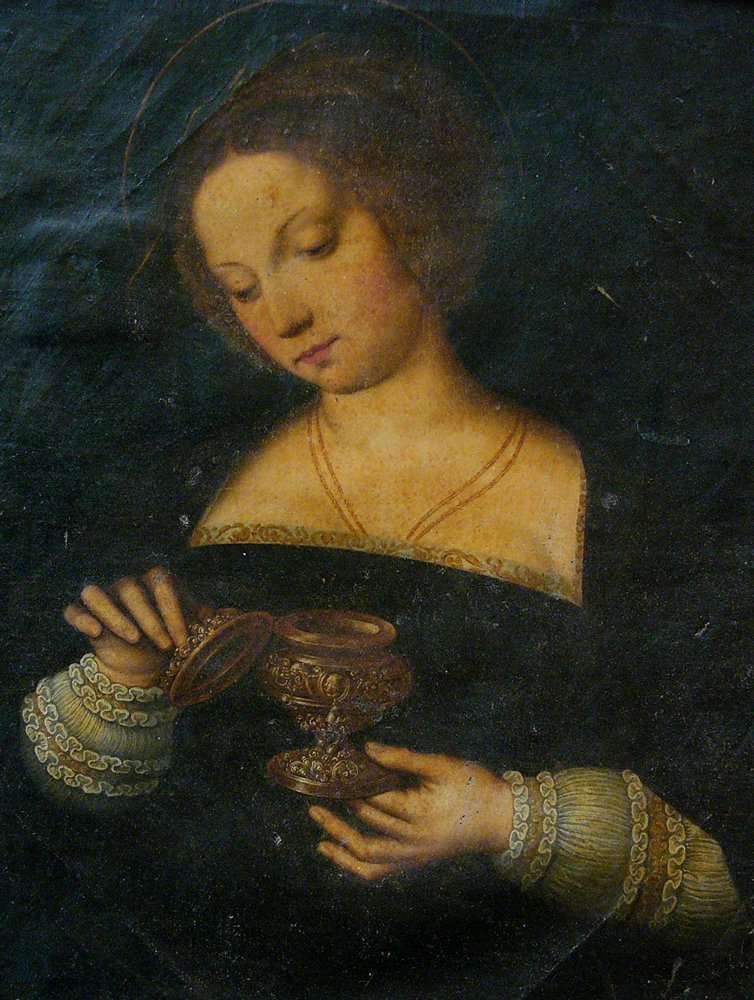 Michiel Coxie (1499-1592)-follower, Female Saint - 3