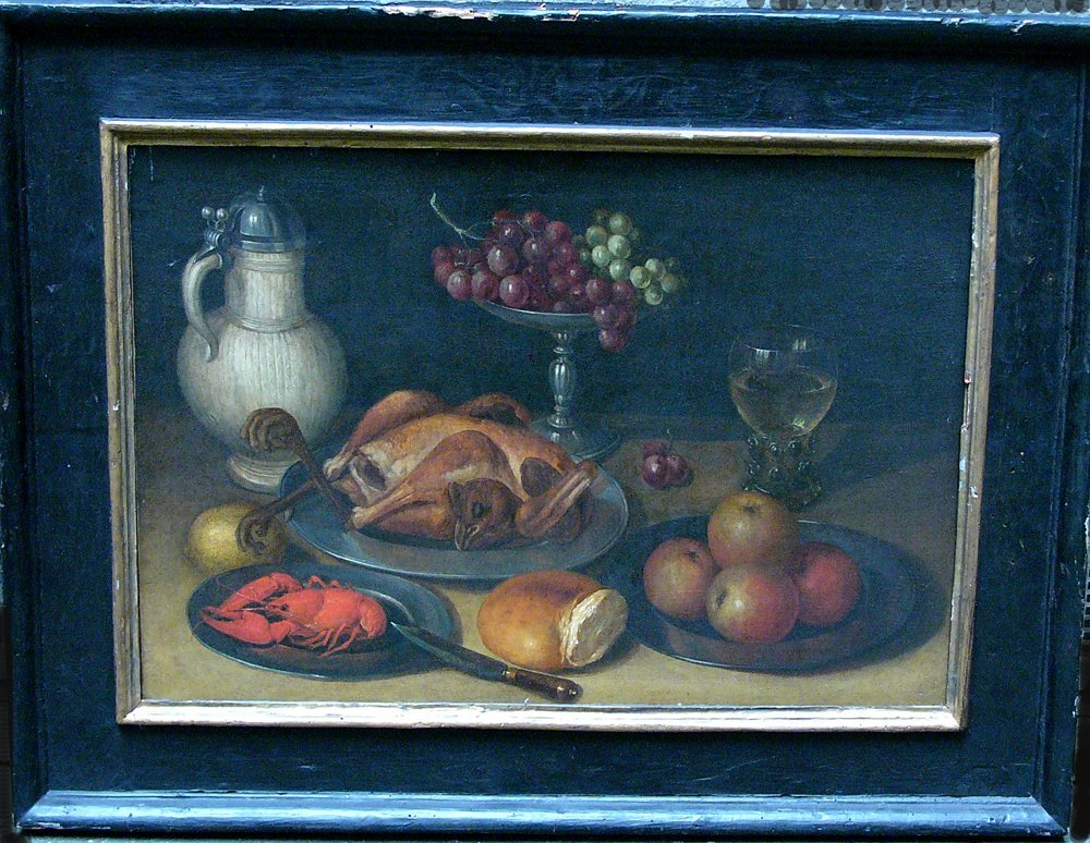 Clara Peeters (1594-1657)-circle, Still life with