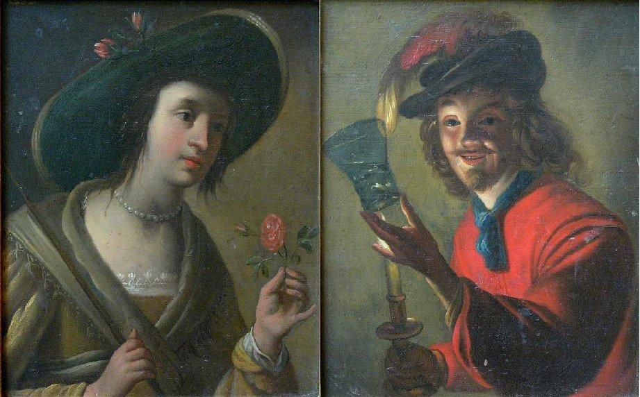 Jan van Biljert (1598-1671)-follower, Pair of