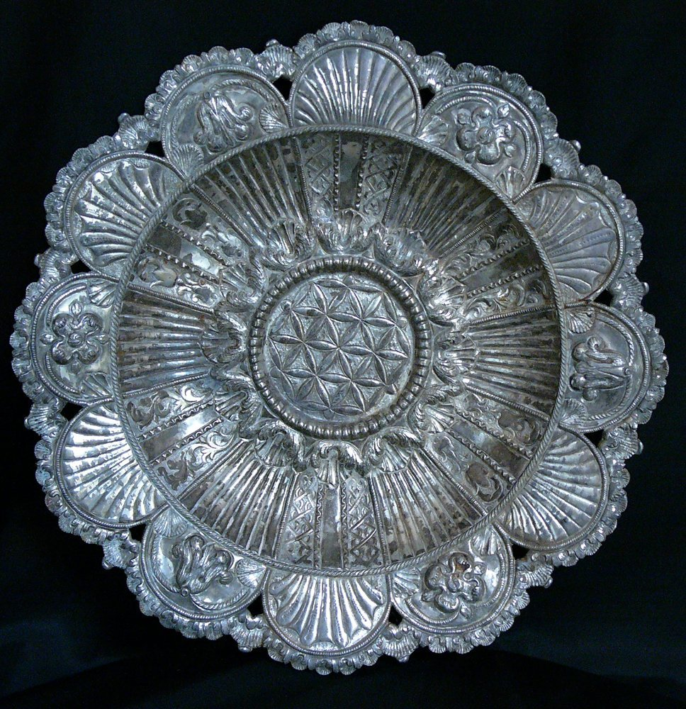 South American Portuguese Salver, round form with