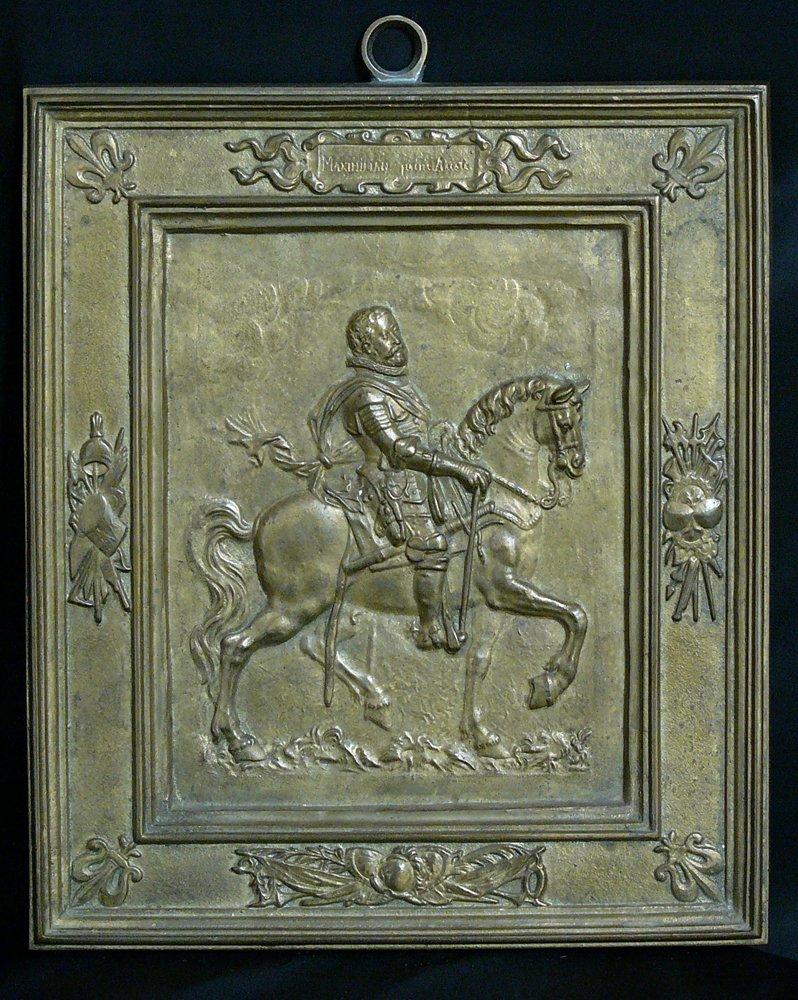 Bronze plaque of  an emperor in manieristic manner,