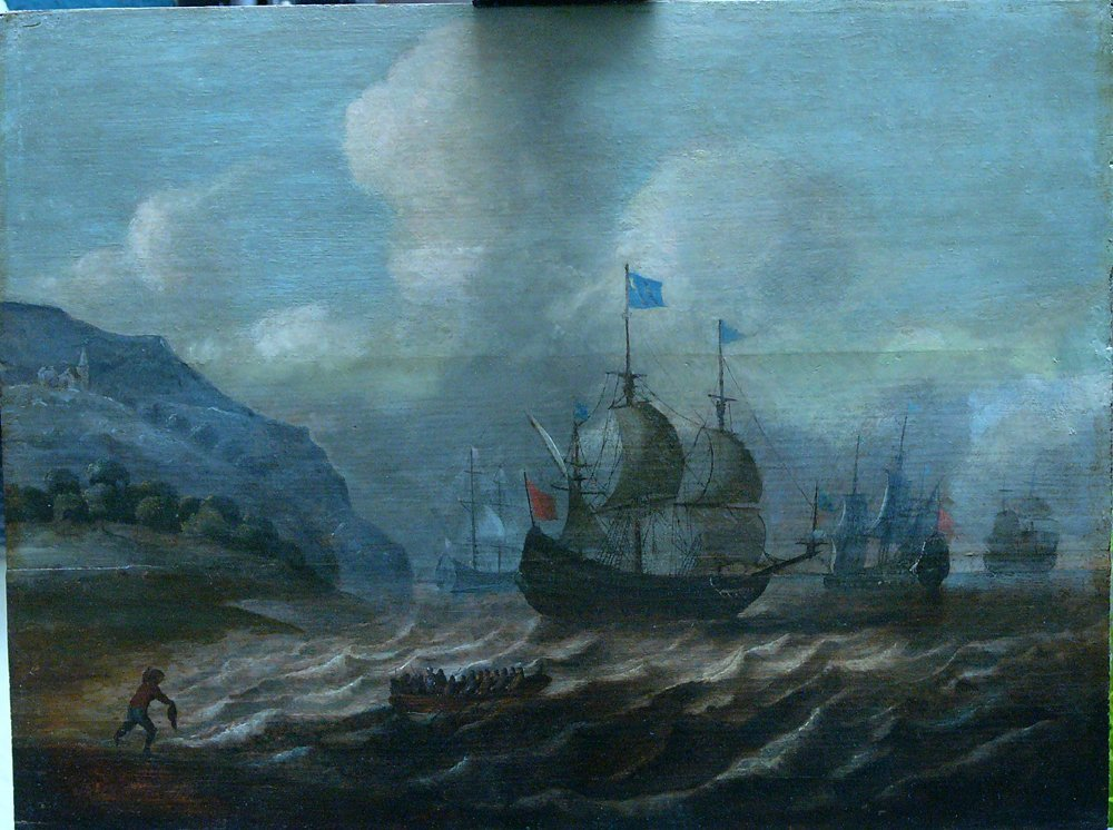 Cornelis Verbeeck (1590-1637)-attributed, Ships and