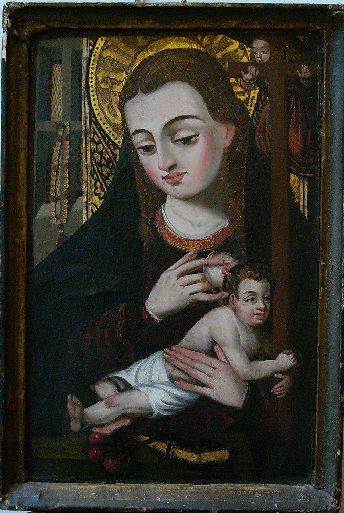 Flemish school around 1500, Madonna with child and