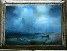 Russian artist, Sea landscape,signed and dated bottom