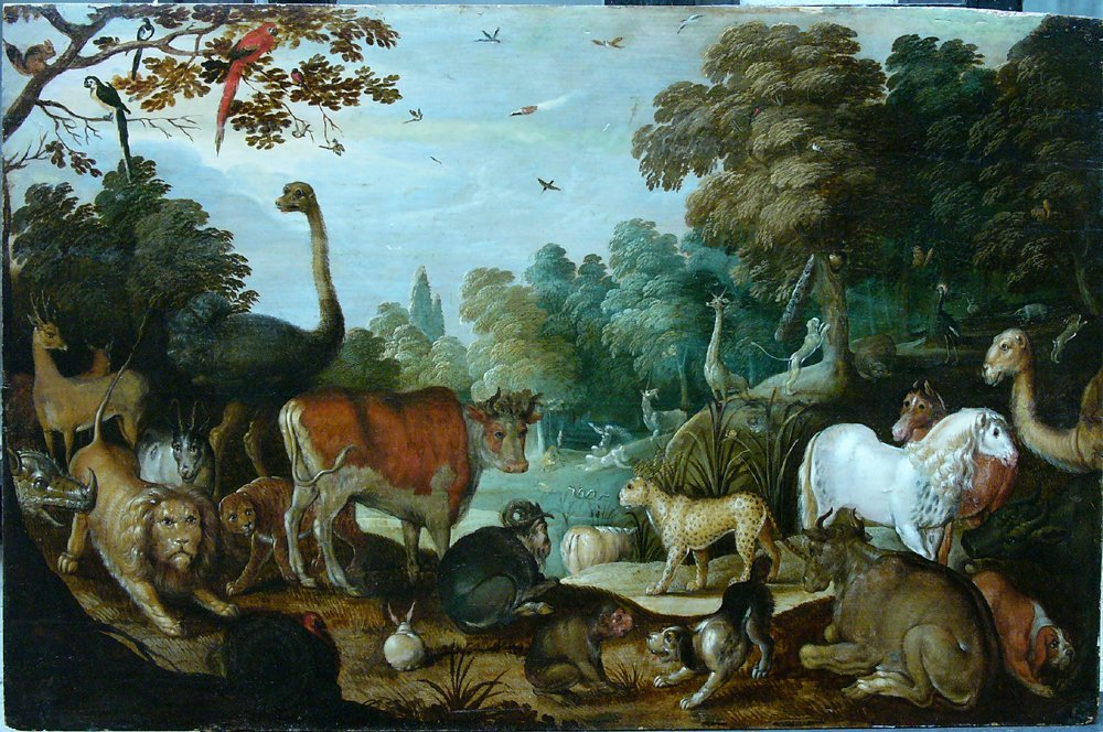Jacop Savery (1566–1603), Adam and Eve in paradise, oil