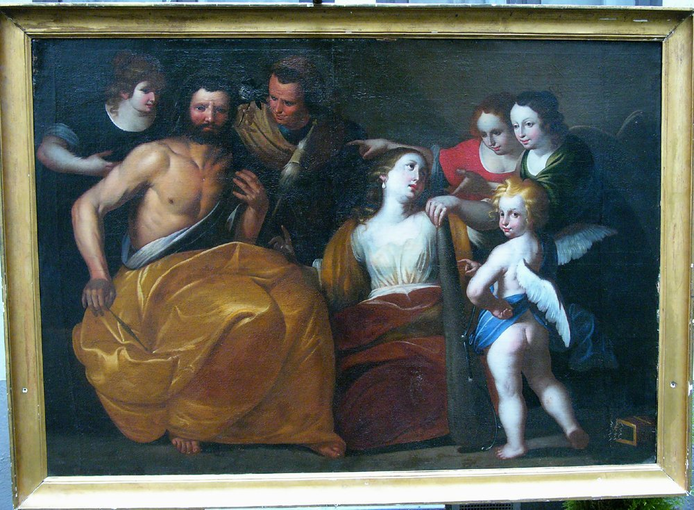 Elisabetta Sirani (1638-1665)-School, Hercules and
