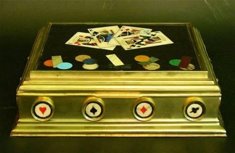Alfred Dunhill (attr.), Cigar Humidor, pietra
