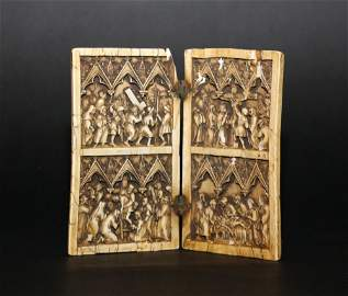 A central European Ivory Diptych in medieval style with