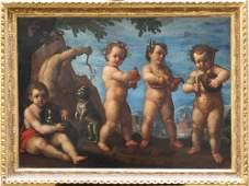 Ludovico Caracci (1555-1619)-circle, Five boys in