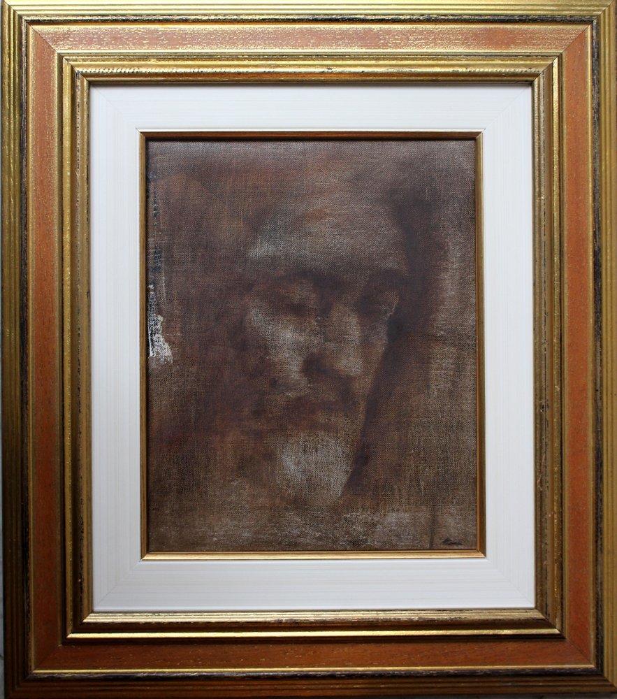 Alessandro Attombri (born 1969), Jesus, oil on canvas.