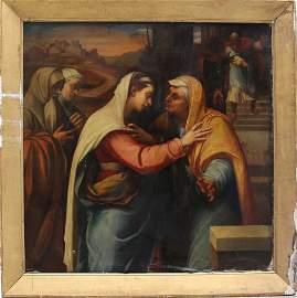 Florentine School 17th/18th Century, The Visitation, oi