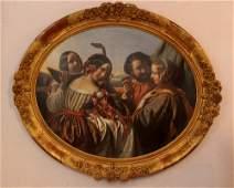 Hermann Winterhalter (1808-1891)-attributed, Oval feast