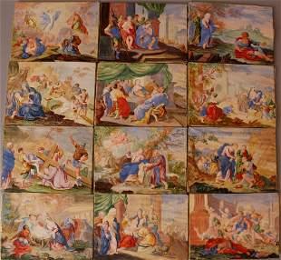 Tyrolian or Bavarian artist around 1700, Twelve scenes