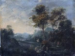 Lucas Achtschellinck (1626-1699)-circle, Landscape with