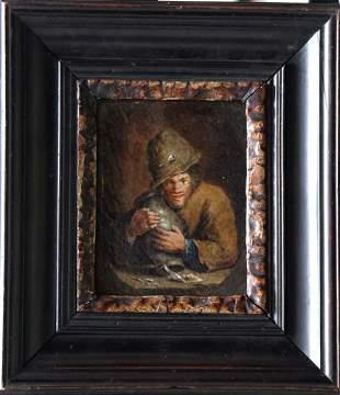 Adriaen Brouwer (1605-1638)-studio, Dutch farmer with