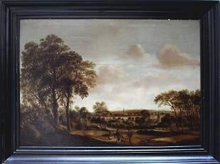 Salomon van Ruysdael (1600-1670)-circle, Two falconiers