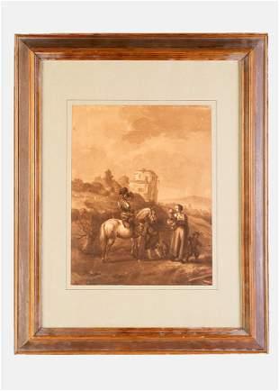 Philips Wouwerman (1619-1668)-attributed, Horse rider