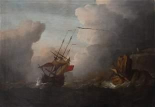 Willem van de Velde the Younger (1633-1707)-circle,