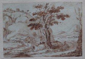 North Italian School 18th Century, Landscape With