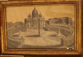 Central Italian School 18th Century, Architectural View