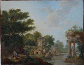 Károly Markó (1793-1860)-attributed, Pastoral Landscape