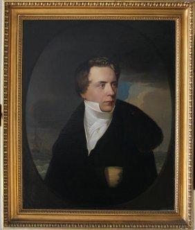 German Artist First Half 19th Century, Portrait Of