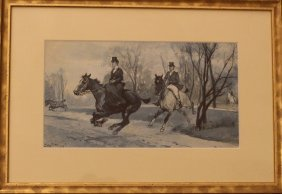 Ludwig Koch (1866-1934), Horse Riders In The Vienna