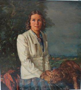 Albert Janesch (1889-1973), Portrait Of A Woman With