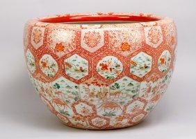 Large Asian Porcelain Pot, Possibly Imari, Very Fine