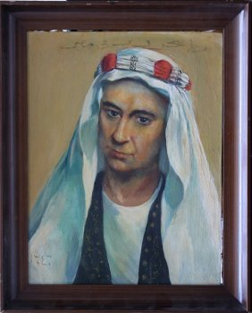Artist 20th Century, Portrait Of An Oriental; Oil On