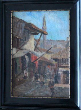 G. Hanisch, Artist Early 20.th Century, Street In