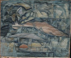 French Cubist Around 1920/30, Composition , Oil On