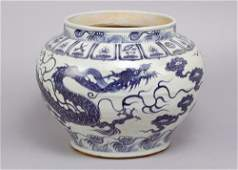 Wide chinese porcelain bowl in Ming Style, with blue