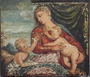 Venetian School 16th Century, Maria with Jesus and