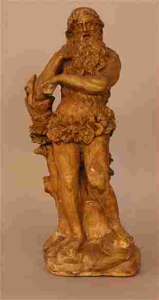 Italian terracotta figure 18th Century, A bearded man