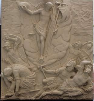 Decorative South German or Austrian plinth with Jesus