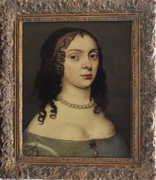 Dutch School around 1700, Portrait of a young lady with