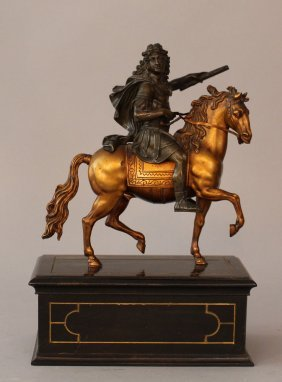 Equestrian Bronze Sculpture Of Louis Xiv On Horse;