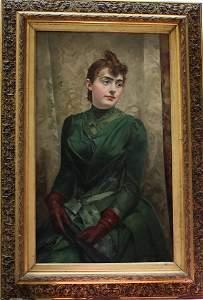 Jose Miralles Darmanin (1851-1900), Elegant lady in