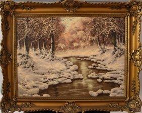 Laszlo Neogrady (1896-1962), Landscape In Winter, Oil