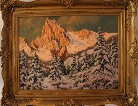 Laszlo Neogrady (1896-1962), Winter In The Mountains;