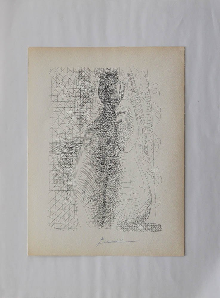 Pablo Ruiz Picasso (1881-1973), Etching of a female