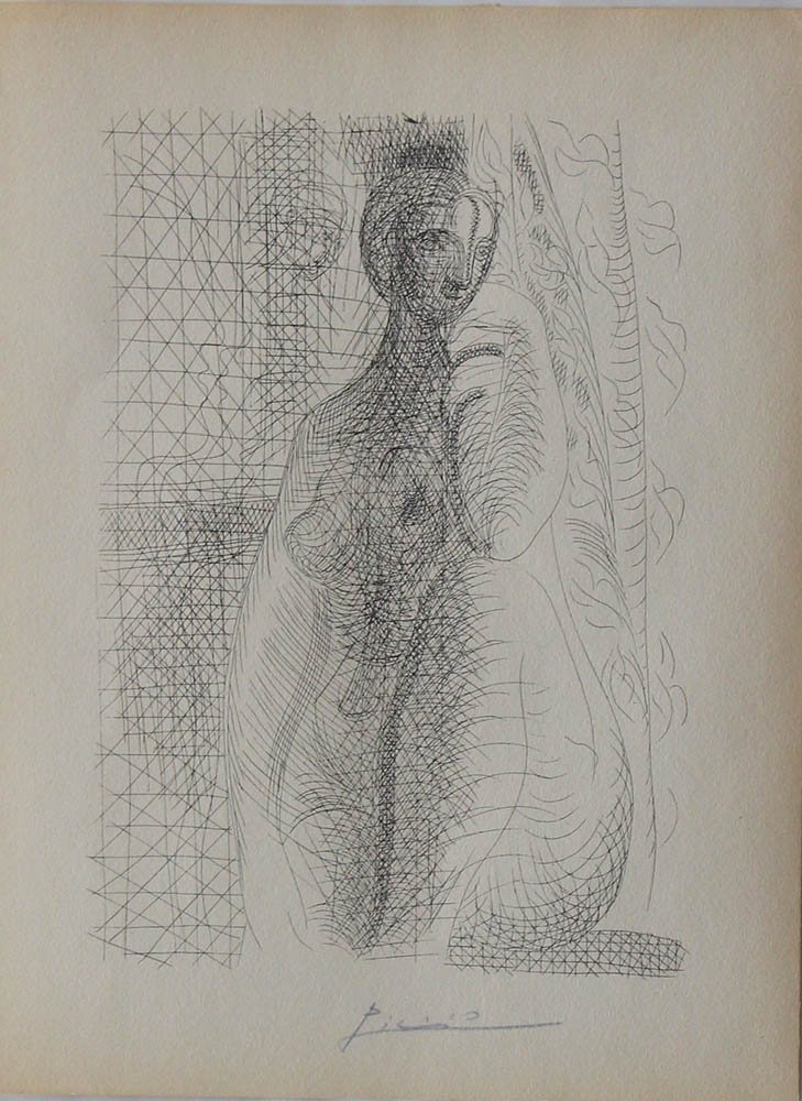 Pablo Ruiz Picasso (1881-1973), Etching of a female - 2