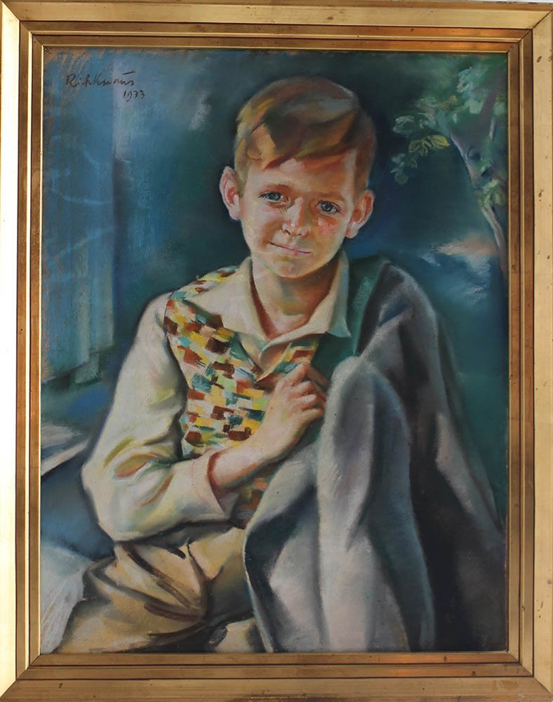 Richard Knaus (1889-1974.) Portrait of a young boy