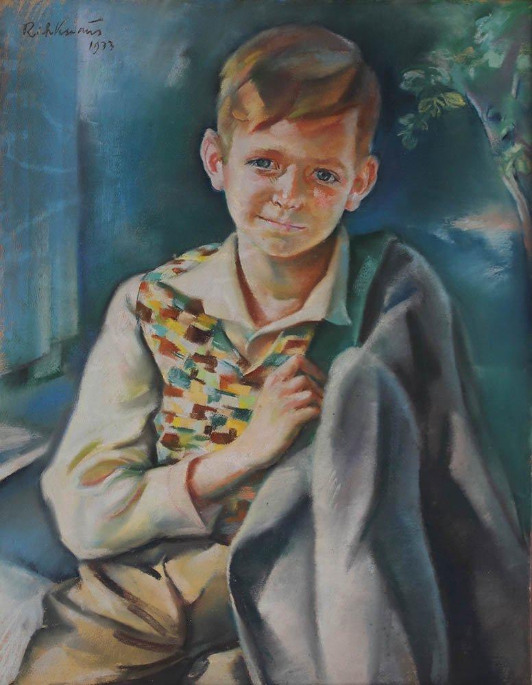 Richard Knaus (1889-1974.) Portrait of a young boy - 2