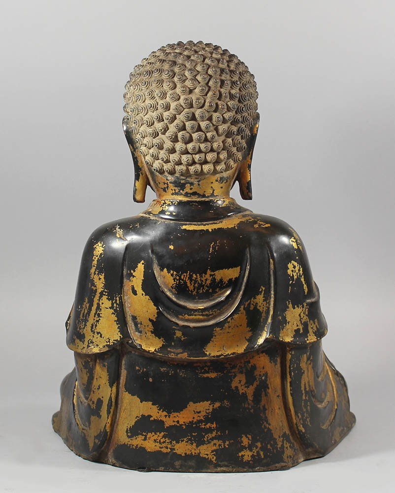 Large Chinese bronze Budha in Ming( - 2