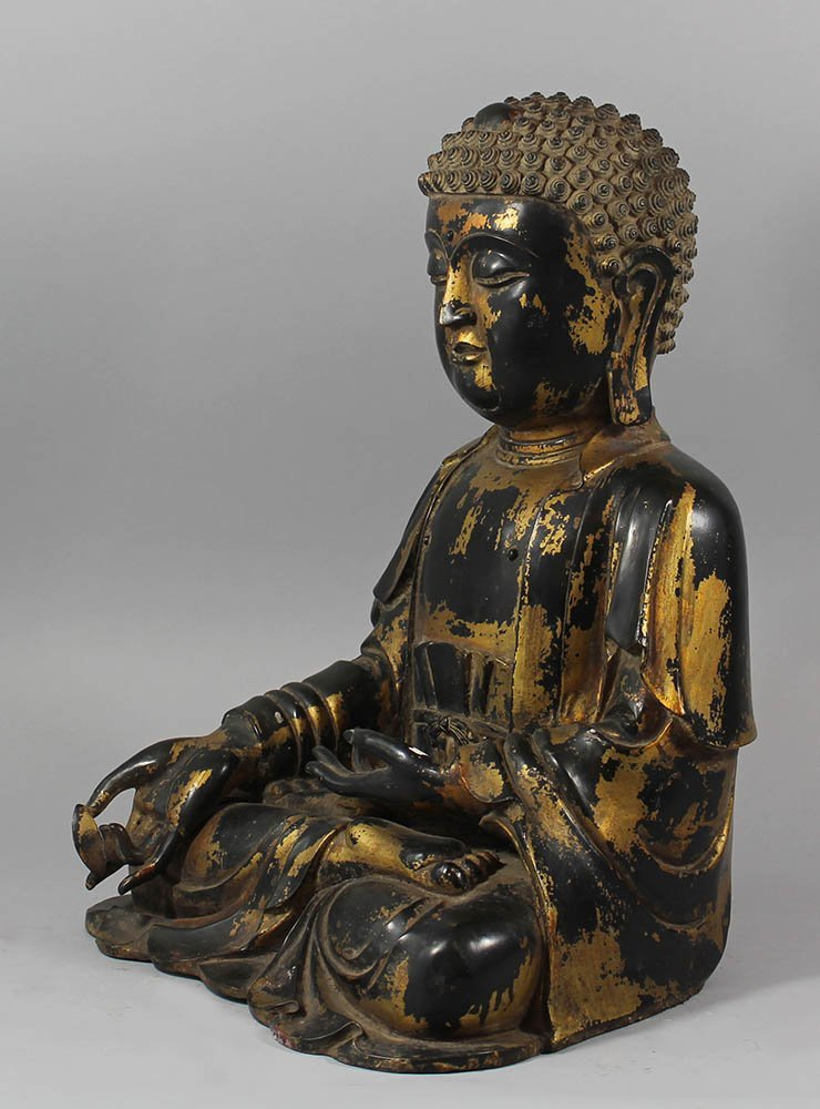 Large Chinese bronze Budha in Ming( - 3