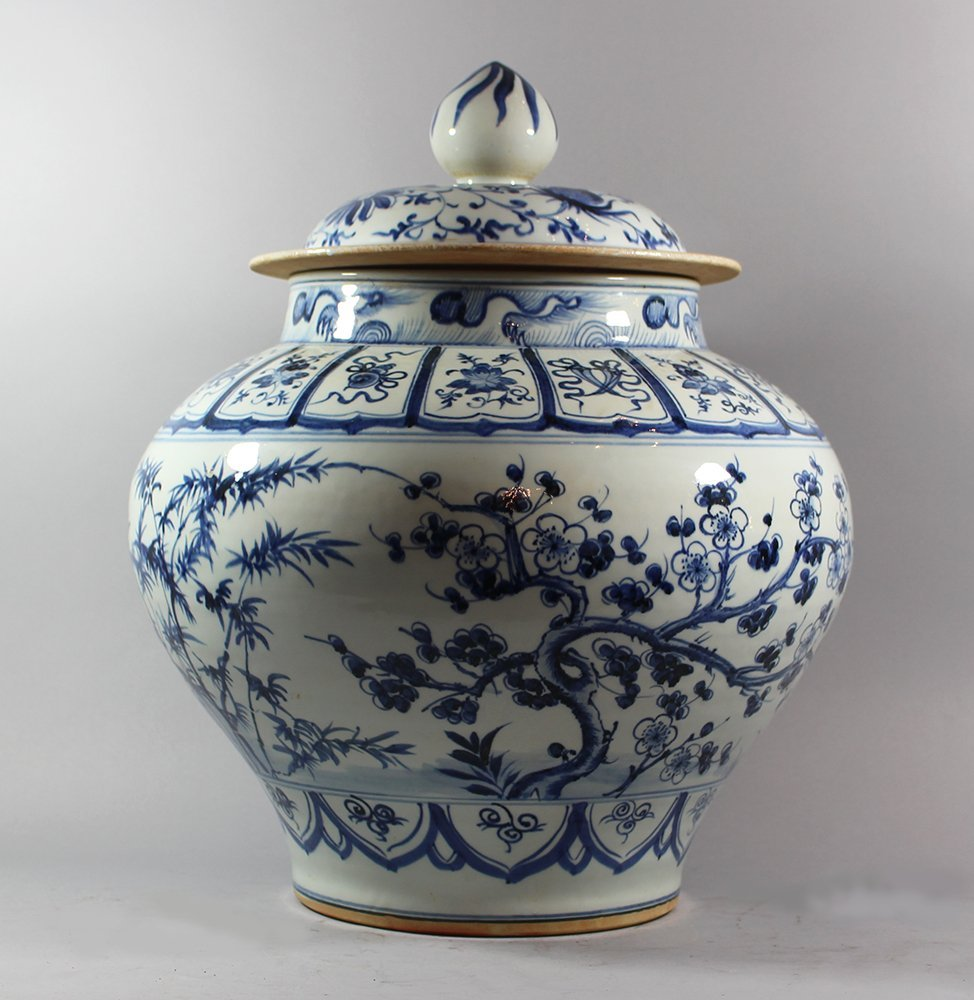 Chinese Porcelain Vase with Porcelian lid in Ming